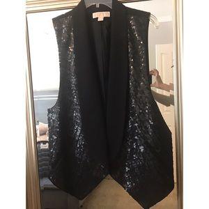 Black sequin Michael Kors dress vest